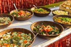 Verdure pronte ad essere mangiato al partito Immagini Stock Libere da Diritti
