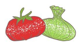 Verdure rosse e bianche Illustrazione Vettoriale