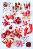 Verdure rosse e frutta dei prodotti freschi Fotografie Stock