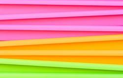 Verdure saltate multicolori fluorescenti Immagini Stock Libere da Diritti