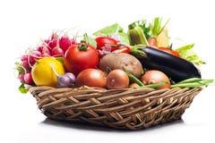 Verdure sane fresche su un fondo bianco Immagine Stock