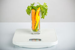 Verdure sane in un vetro Fotografie Stock