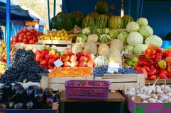 Verdure saporite e frutta immagine stock libera da diritti