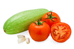 Verdure saporite fresche isolate su bianco Immagini Stock Libere da Diritti