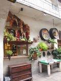 Verdure secche del caffè di progettazione a Cracovia Fotografie Stock Libere da Diritti