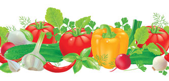 Verdure senza cuciture del modello Immagini Stock Libere da Diritti