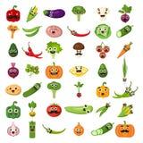 Verdure sorridenti messe illustrazione vettoriale
