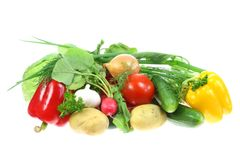Verdure su bianco. fotografia stock