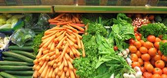 Verdure su un mercato Fotografia Stock Libera da Diritti