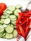 Verdure su un piatto Fotografia Stock