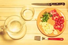 Verdure su un piatto Fotografie Stock Libere da Diritti