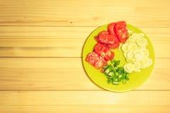 Verdure su un piatto Immagini Stock