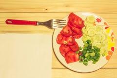 Verdure su un piatto Immagini Stock Libere da Diritti