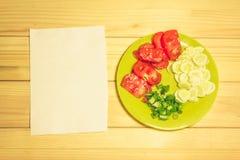 Verdure su un piatto Fotografie Stock