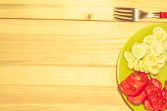 Verdure su un piatto Fotografia Stock Libera da Diritti