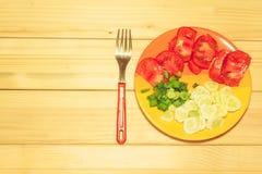 Verdure su un piatto Immagine Stock