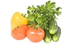 Verdure su una priorità bassa bianca. immagini stock libere da diritti