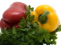 Verdure su una priorità bassa bianca fotografia stock