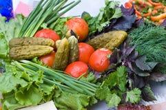 Verdure su una tabella pranzante. Immagine Stock Libera da Diritti