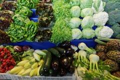 Verdure sulla stalla del mercato Immagine Stock Libera da Diritti