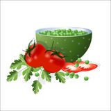 Verdure utili per alimento sano Fotografia Stock