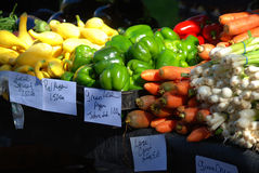 Verdure variopinte al mercato dell'agricoltore a Charleston, Carolina del Sud Fotografia Stock Libera da Diritti