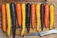 Verdure variopinte Giallo, rosso, arancia e pur colorati organici Immagini Stock