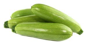 Verdure verdi dello zucchini isolate su fondo bianco Fotografie Stock