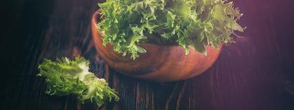 Verdure verdi fresche Concetto dell'insegna Fotografie Stock Libere da Diritti