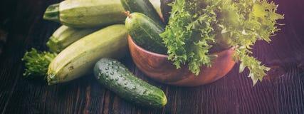 Verdure verdi fresche Concetto dell'insegna Fotografia Stock