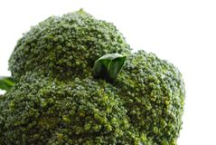 Verdure verdi fresche sulla macro bianca Fotografia Stock Libera da Diritti