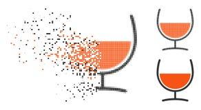 Verdwijnend Dot Halftone Remedy Glass Icon stock illustratie