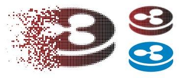 Verdwijnend het Muntstukpictogram van de Pixel Halftone Rimpeling stock illustratie