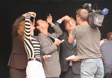 Vereadores em Flagday Imagens de Stock