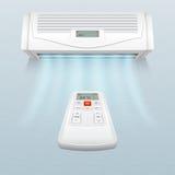 Veredelingsmiddel met verse luchtstromen Klimaatcontrole in huis en bureau vectorillustratie stock illustratie