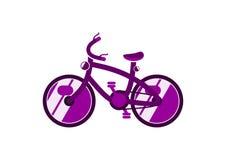 Vereenvoudigde fiets royalty-vrije illustratie