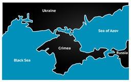 Vereenvoudigde kaart van de Krim Vector Stock Foto's