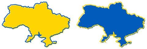 Vereenvoudigde kaart van de Oekraïne met het overzicht van de Krim Vul en strijk vector illustratie