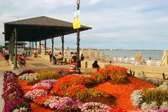 Verehren Sie Strand-Pavillon lizenzfreie stockfotos