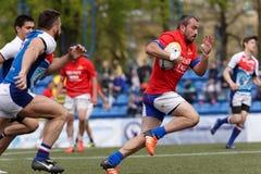 Verein-Meister ` s Rugby-Europas Sevens Trophäe in St Petersburg, Russland Lizenzfreie Stockfotos