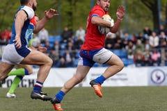 Verein-Meister ` s Rugby-Europas Sevens Trophäe in St Petersburg, Russland Lizenzfreie Stockbilder