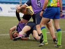 Verein-Meister ` s Rugby-Europas Sevens Trophäe in St Petersburg, Russland Stockfoto