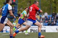 Verein-Meister ` s Rugby-Europas Sevens Trophäe in St Petersburg, Russland Lizenzfreies Stockbild