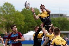 Verein-Meister ` s Rugby-Europas Sevens Trophäe in St Petersburg, Russland Lizenzfreie Stockfotografie