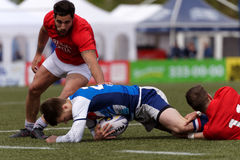 Verein-Meister ` s Rugby-Europas Sevens Trophäe in St Petersburg, Russland Stockfotografie