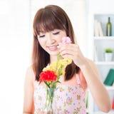 Vereinbaren Sie Blumen Lizenzfreies Stockfoto