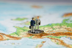 Vereinbarung über neue EU-Vertrag-Angebote Stockfotos