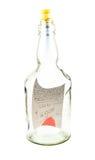 Vereinbarung in der Flasche lizenzfreie stockfotos