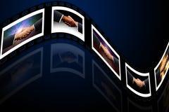 Vereinbarungen über Film Stockfotografie