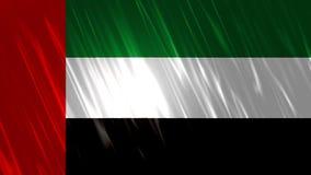 Vereinigte Arabische Emirate-Flagge Loopable-Hintergrund vektor abbildung